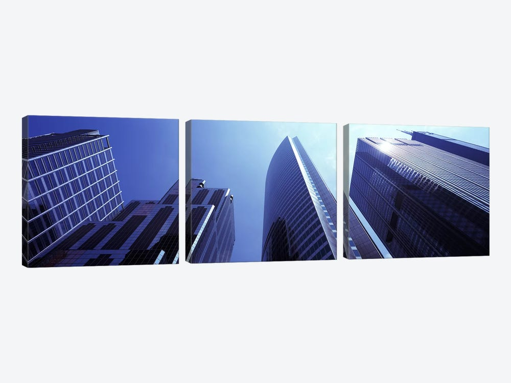 Low angle view of skyscrapers, Chicago, Cook County, Illinois, USA by Panoramic Images 3-piece Art Print