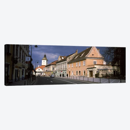Church in a city, Black Church, Brasov, Transylvania, Romania Canvas Print #PIM9282} by Panoramic Images Canvas Artwork