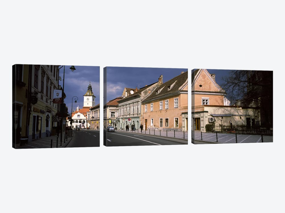 Church in a city, Black Church, Brasov, Transylvania, Romania by Panoramic Images 3-piece Canvas Art