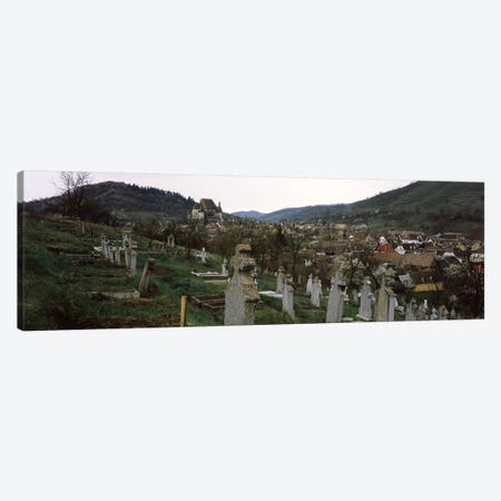 Tombstones in a cemetery, Saxon Church, Biertan, Sibiu County, Transylvania, Romania Canvas Print #PIM9283} by Panoramic Images Canvas Artwork