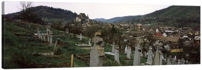 Tombstones in a cemetery, Saxon Church, Biertan, Sibiu County, Transylvania, Romania Canvas Print #PIM9283