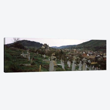 Tombstones in a cemetery, Saxon Church, Biertan, Sibiu County, Transylvania, Romania Canvas Print #PIM9283} by Panoramic Images Canvas Artwork