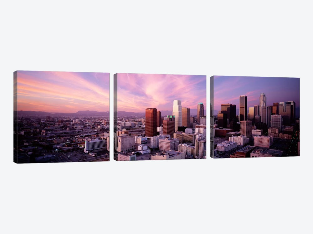 High Angle View of The CityLos Angeles, California, USA, by Panoramic Images 3-piece Canvas Artwork