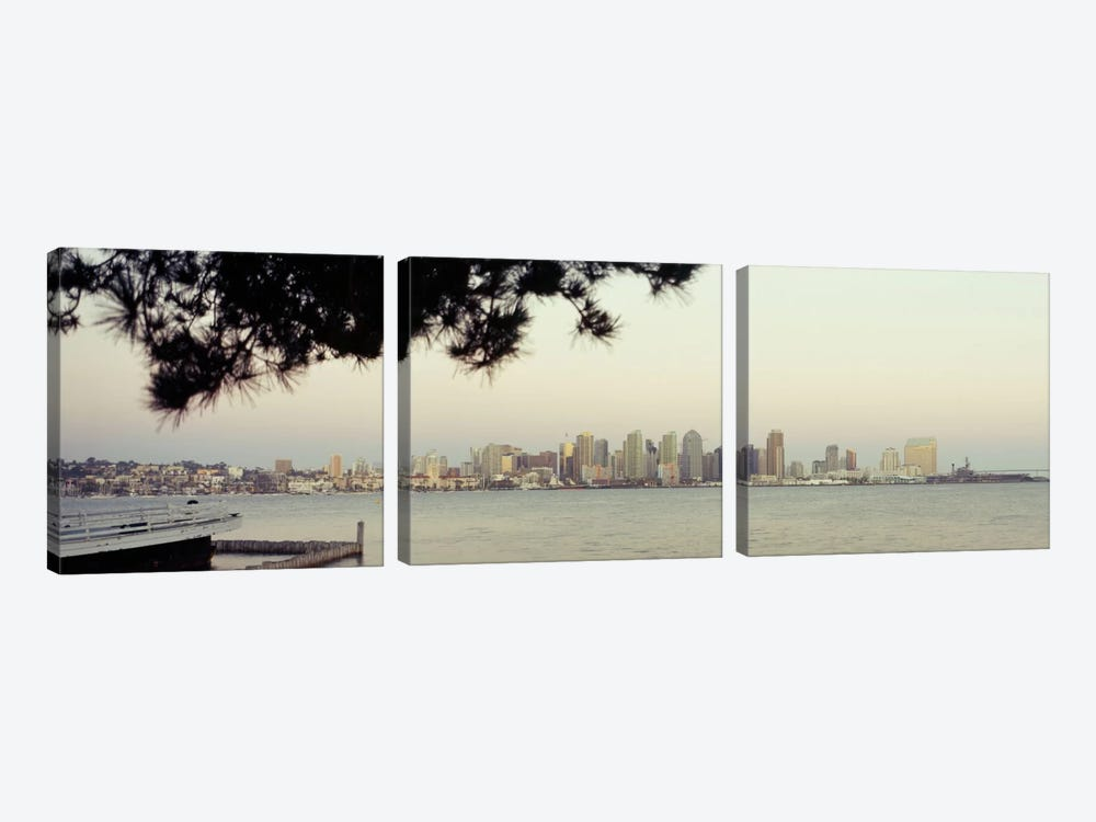 Buildings at the waterfront, San Diego, California, USA #5 by Panoramic Images 3-piece Art Print