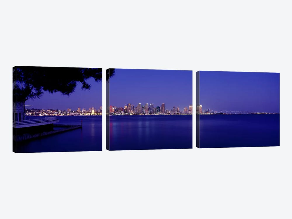 Buildings at the waterfront, San Diego, California, USA #6 by Panoramic Images 3-piece Canvas Art