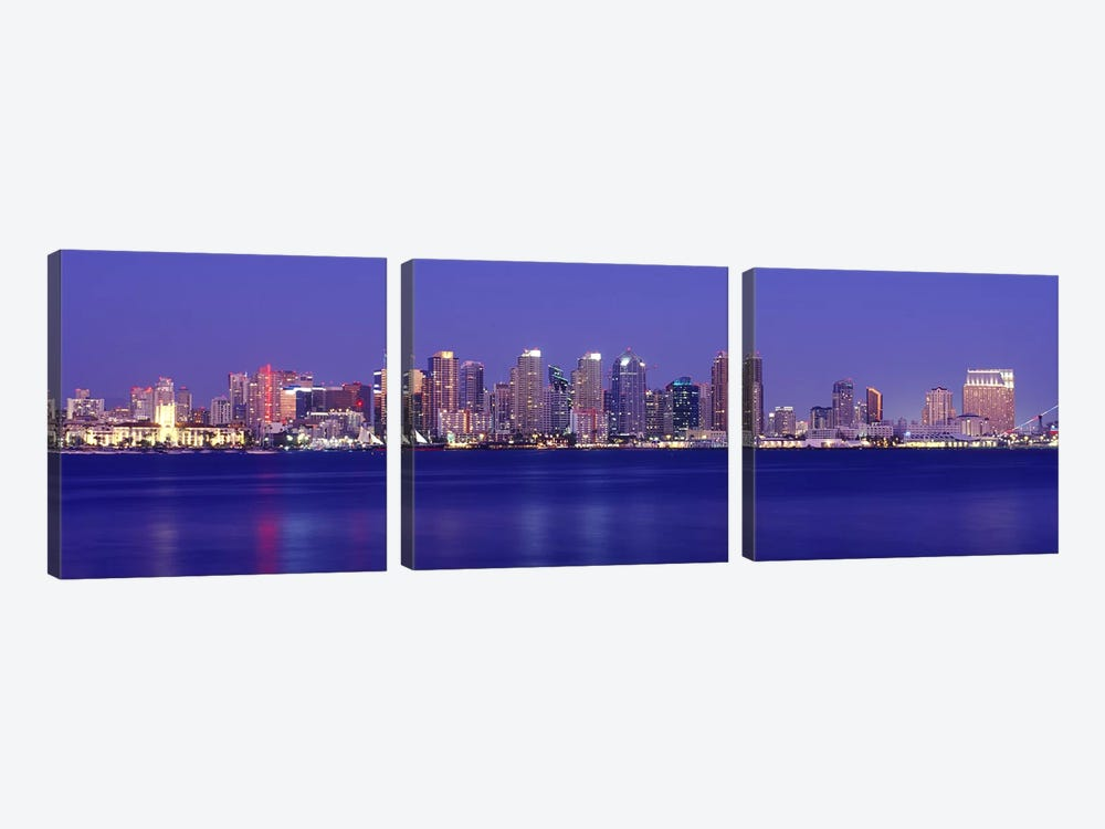 Buildings at the waterfront, San Diego, California, USA #7 by Panoramic Images 3-piece Art Print