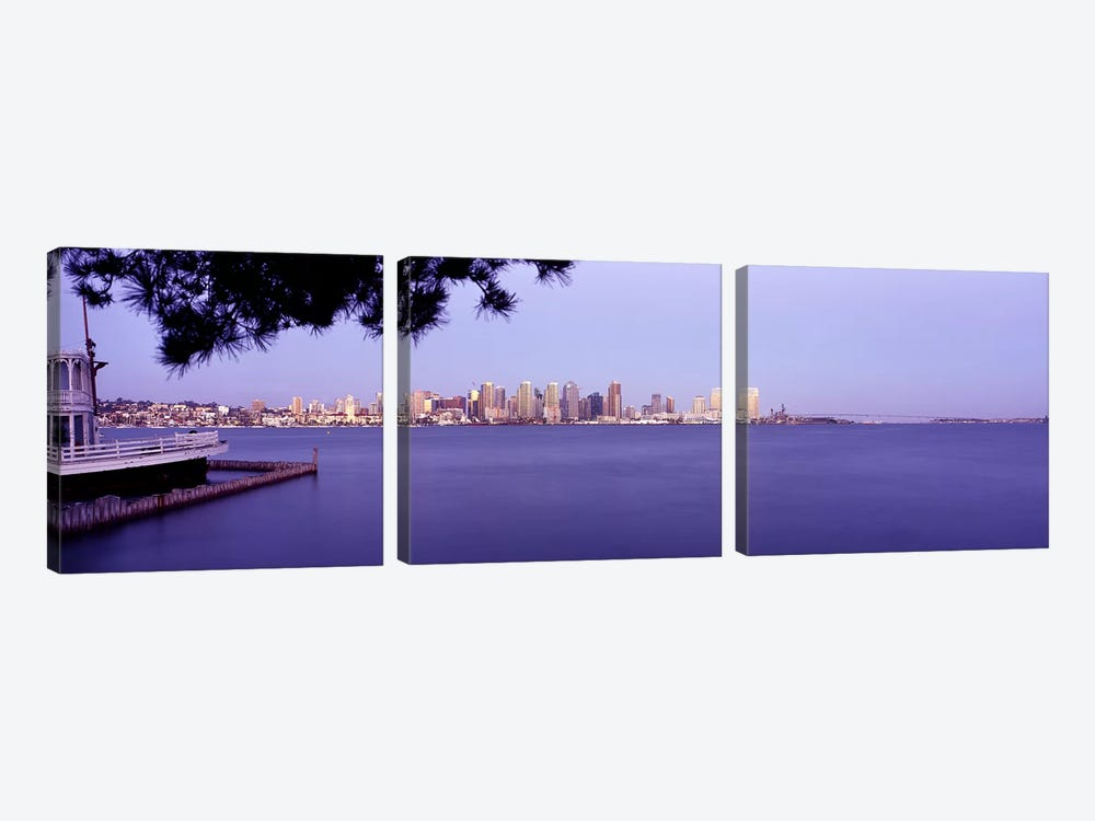 Buildings at the waterfront, San Diego, California, USA #8 by Panoramic Images 3-piece Canvas Wall Art