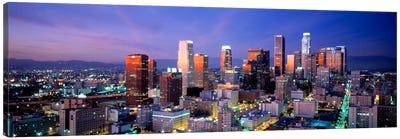 NightSkyline, Cityscape, Los Angeles, California, USA Canvas Print #PIM929