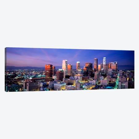 NightSkyline, Cityscape, Los Angeles, California, USA Canvas Print #PIM929} by Panoramic Images Canvas Art Print