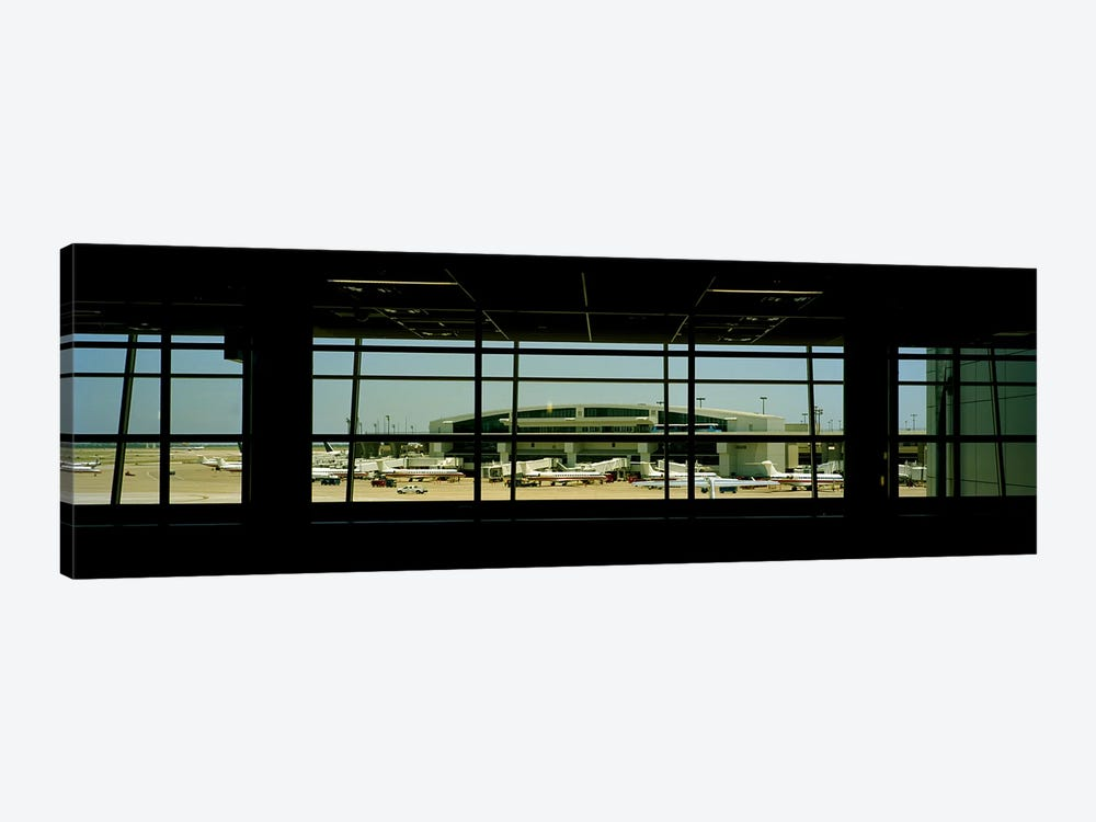 Airport viewed from inside the terminal, Dallas Fort Worth International Airport, Dallas, Texas, USA by Panoramic Images 1-piece Art Print