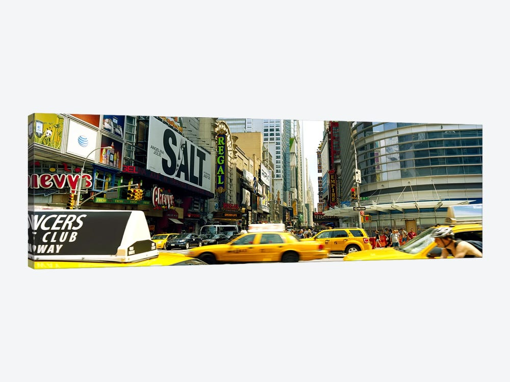 Traffic in a city, 42nd Street, Eighth Avenue, Times Square, Manhattan, New York City, New York State, USA by Panoramic Images 1-piece Art Print