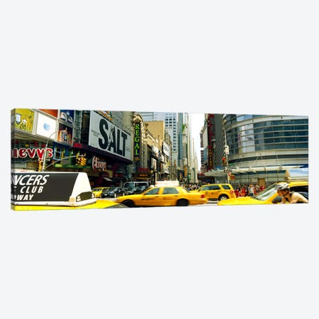 Traffic in a city, 42nd Street, Eighth Avenue, Times Square, Manhattan, New York City, New York State, USA Canvas Print #PIM9304} by Panoramic Images Canvas Artwork