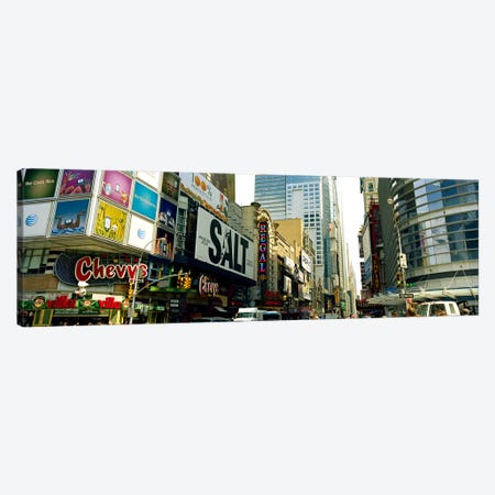 Traffic in a city, 42nd Street, Eighth Avenue, Times Square, Manhattan, New York City, New York State, USA #2 Canvas Print #PIM9305} by Panoramic Images Canvas Artwork