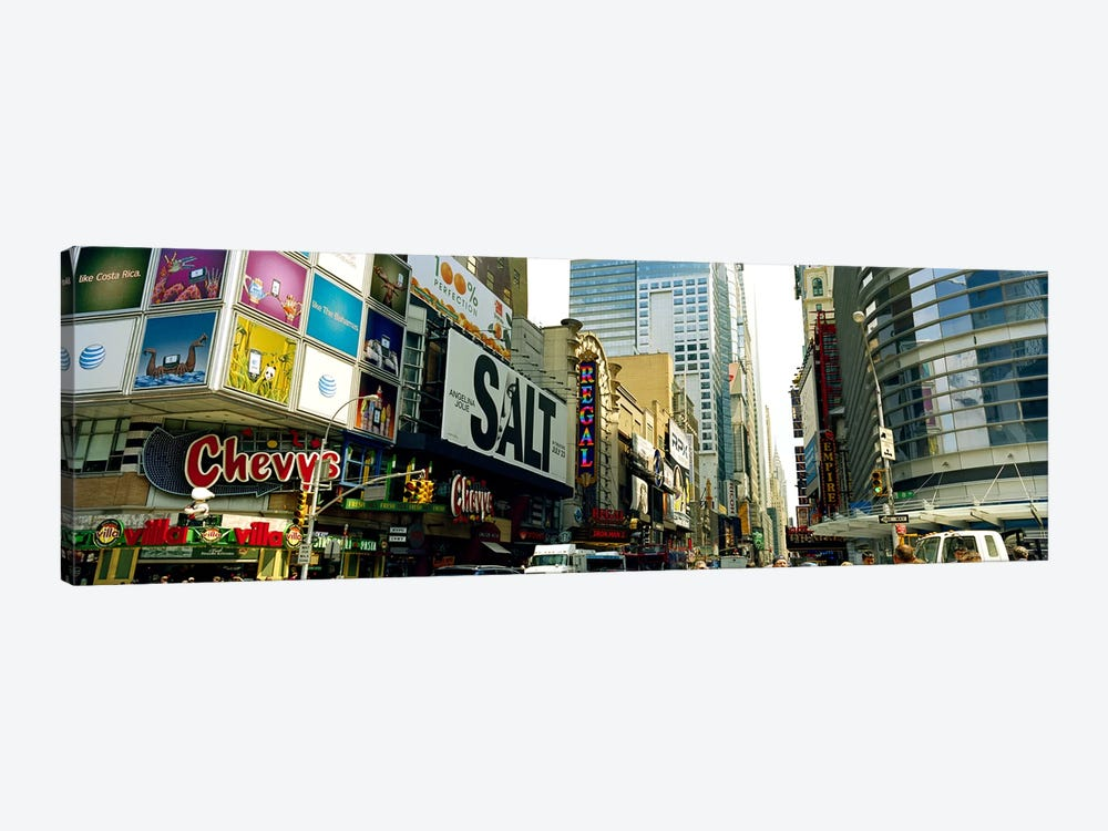Traffic in a city, 42nd Street, Eighth Avenue, Times Square, Manhattan, New York City, New York State, USA #2 by Panoramic Images 1-piece Canvas Wall Art