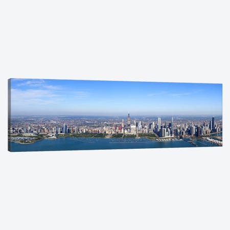 Aerial view of a cityscape, Trump International Hotel And Tower, Willis Tower, Chicago, Cook County, Illinois, USA Canvas Print #PIM9306} by Panoramic Images Canvas Artwork