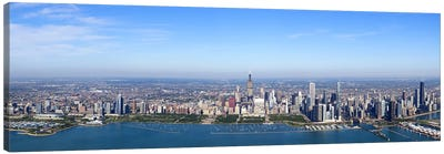 Aerial view of a cityscape, Trump International Hotel And Tower, Willis Tower, Chicago, Cook County, Illinois, USA Canvas Print #PIM9306