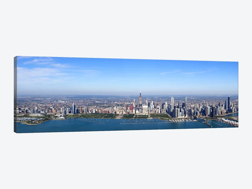 Aerial view of a cityscape, Trump International Hotel And Tower, Willis Tower, Chicago, Cook County, Illinois, USA by Panoramic Images 1-piece Canvas Print