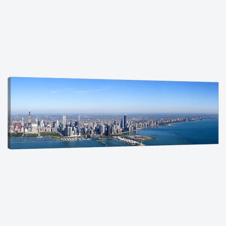 Aerial view of a cityscape, Trump International Hotel And Tower, Willis Tower, Chicago, Cook County, Illinois, USA #2 Canvas Print #PIM9307} by Panoramic Images Canvas Wall Art