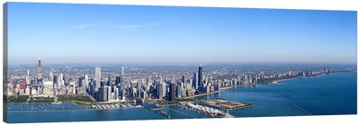Aerial view of a cityscape, Trump International Hotel And Tower, Willis Tower, Chicago, Cook County, Illinois, USA #2 Canvas Print #PIM9307