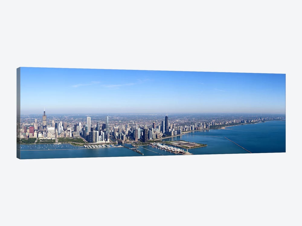 Aerial view of a cityscape, Trump International Hotel And Tower, Willis Tower, Chicago, Cook County, Illinois, USA #2 by Panoramic Images 1-piece Canvas Wall Art