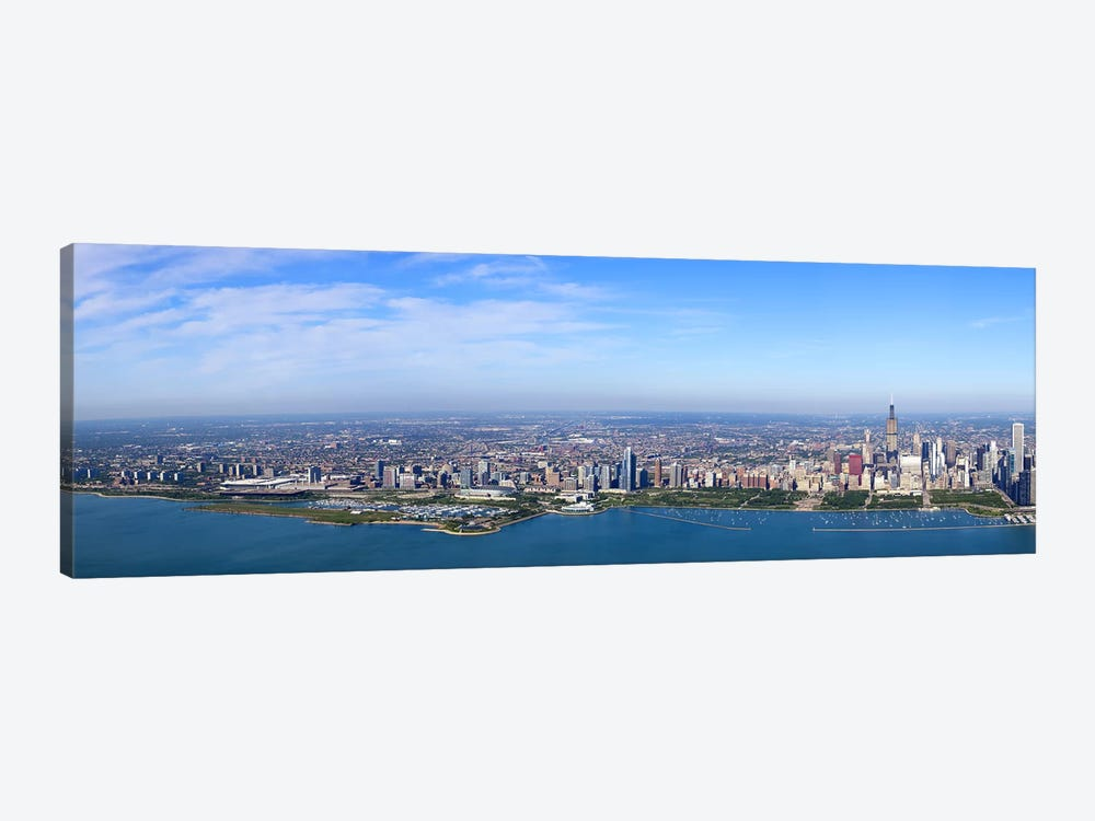 Aerial view of a cityscape, Trump International Hotel And Tower, Willis Tower, Chicago, Cook County, Illinois, USA #3 by Panoramic Images 1-piece Canvas Art Print