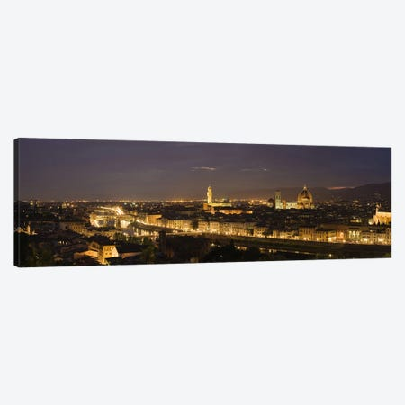 Buildings in a city, Ponte Vecchio, Arno River, Duomo Santa Maria Del Fiore, Florence, Tuscany, Italy Canvas Print #PIM9324} by Panoramic Images Canvas Artwork