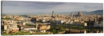 Buildings in a cityPonte Vecchio, Arno River, Duomo Santa Maria Del Fiore, Florence, Tuscany, Italy Canvas Print #PIM9325