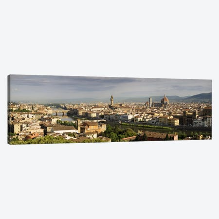 Buildings in a cityPonte Vecchio, Arno River, Duomo Santa Maria Del Fiore, Florence, Tuscany, Italy Canvas Print #PIM9325} by Panoramic Images Canvas Artwork