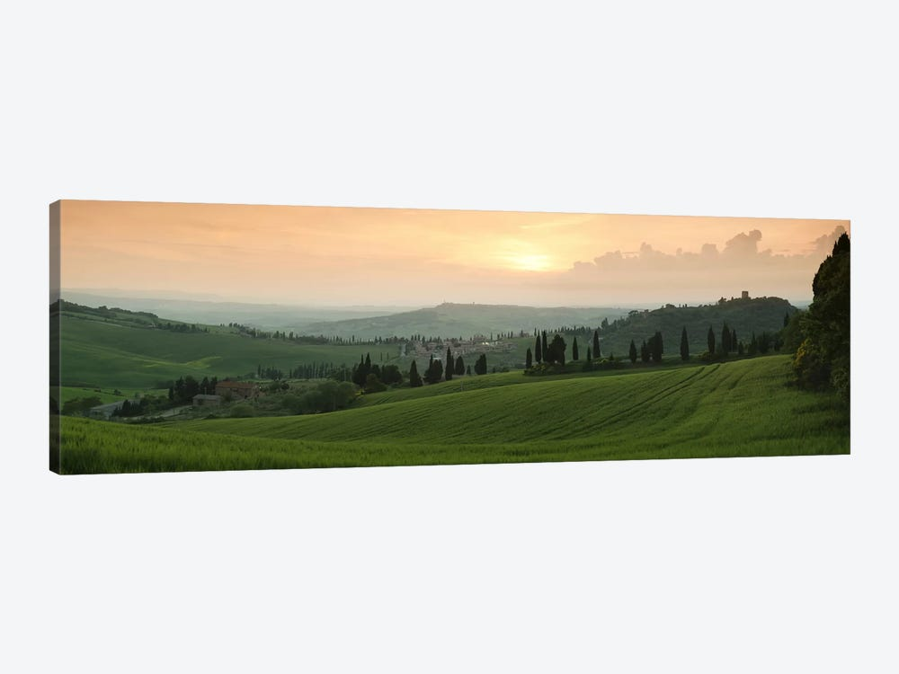 Countryside Landscape, Monticchiello, Val d'Orcia, Siena Province, Tuscany, Italy by Panoramic Images 1-piece Canvas Art Print