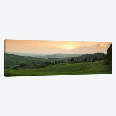 Countryside Landscape, Monticchiello, Val d'Orcia, Siena Province, Tuscany, Italy 3-Piece Canvas #PIM9326} by Panoramic Images Canvas Artwork