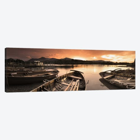 Boats in a lake, Derwent Water, Keswick, English Lake District, Cumbria, England Canvas Print #PIM9330} by Panoramic Images Canvas Wall Art