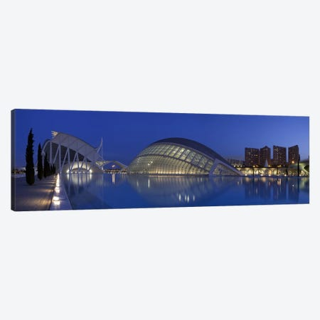 Opera house at the waterfront, Ciutat De Les Arts I Les Ciencies, Valencia, Spain Canvas Print #PIM9346} by Panoramic Images Canvas Artwork