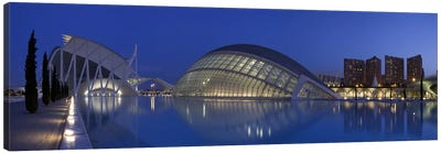Opera house at the waterfront, Ciutat De Les Arts I Les Ciencies, Valencia, Spain Canvas Art Print