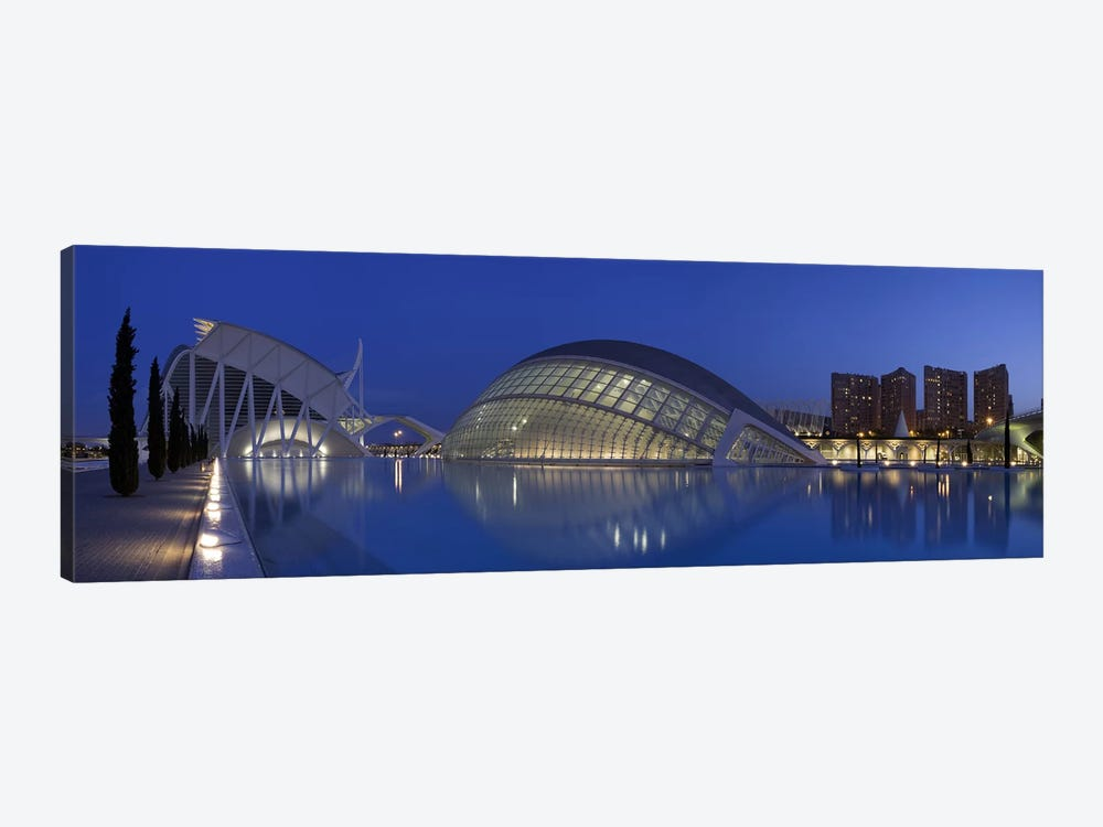 Opera house at the waterfront, Ciutat De Les Arts I Les Ciencies, Valencia, Spain by Panoramic Images 1-piece Art Print