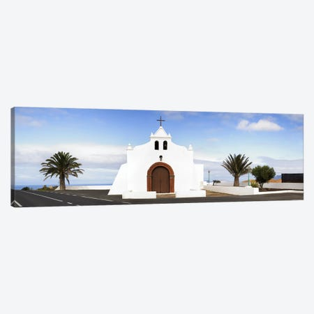Chapel on a hill, Tiagua, Lanzarote, Canary Islands, Spain Canvas Print #PIM9348} by Panoramic Images Art Print