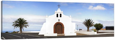 Chapel on a hill, Tiagua, Lanzarote, Canary Islands, Spain Canvas Art Print