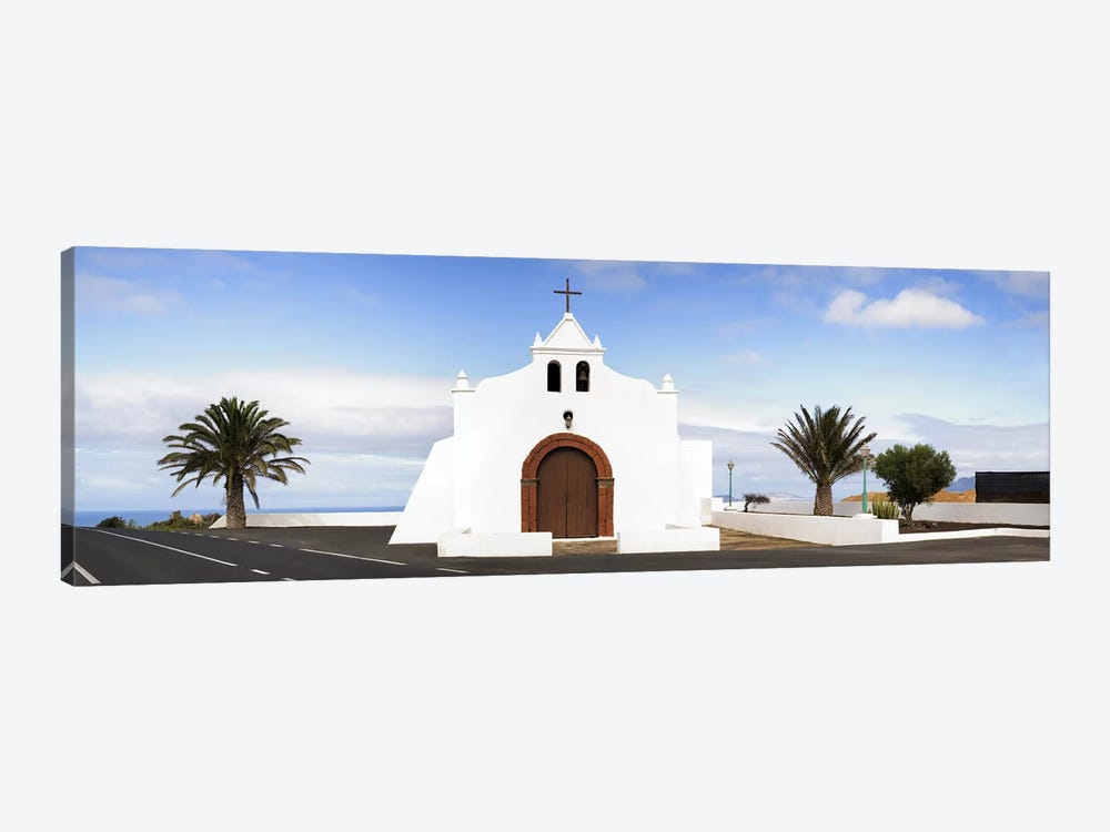 Chapel on a hill, Tiagua, Lanzarote, Canary Islands, Spain by Panoramic Images 1-piece Canvas Art Print