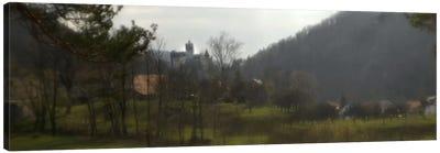 Castle on a hill, Bran Castle, Transylvania, Romania Canvas Art Print