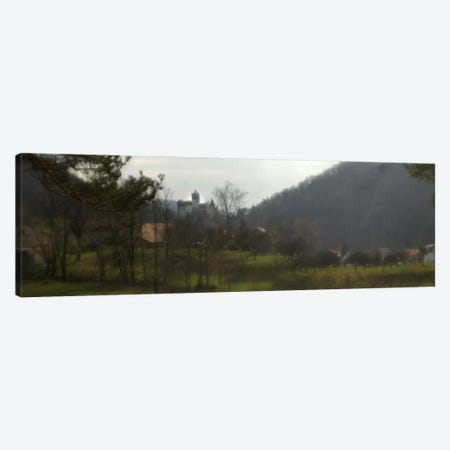 Castle on a hill, Bran Castle, Transylvania, Romania Canvas Print #PIM9355} by Panoramic Images Canvas Art Print