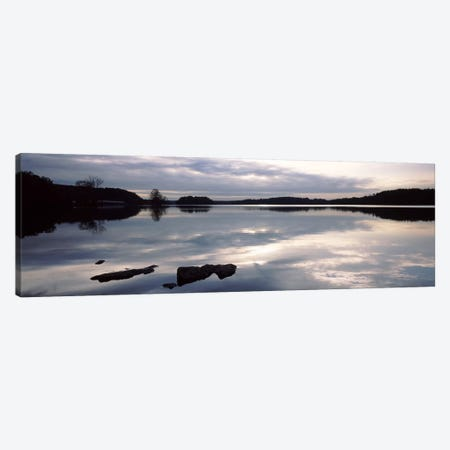 Reflection of clouds in a lake, Loch Raven Reservoir, Lutherville-Timonium, Baltimore County, Maryland, USA Canvas Print #PIM9356} by Panoramic Images Canvas Art Print