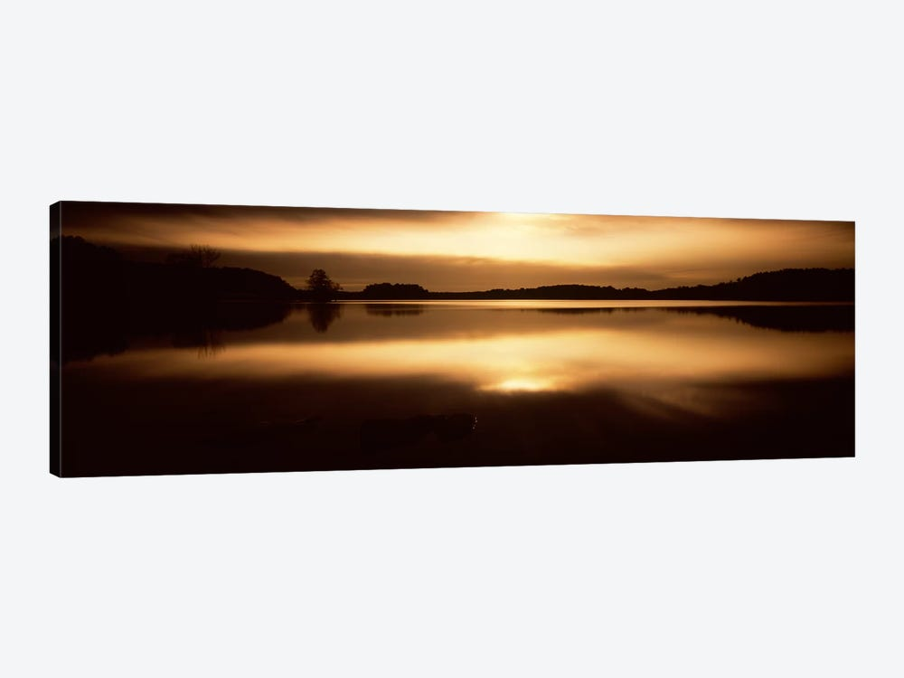 Reflection of clouds in a lake, Loch Raven Reservoir, Lutherville-Timonium, Baltimore County, Maryland, USA #2 by Panoramic Images 1-piece Canvas Art Print