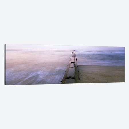 Tide break on the beach at sunrise, Cape Hatteras National Seashore, North Carolina, USA Canvas Print #PIM9359} by Panoramic Images Canvas Wall Art