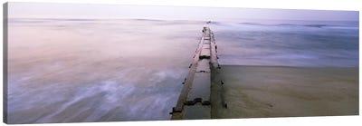 Tide break on the beach at sunrise, Cape Hatteras National Seashore, North Carolina, USA Canvas Print #PIM9359