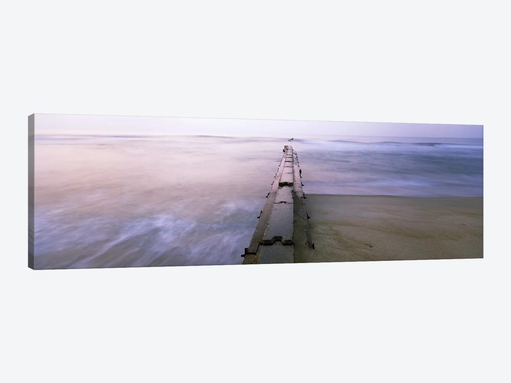 Tide break on the beach at sunrise, Cape Hatteras National Seashore, North Carolina, USA by Panoramic Images 1-piece Art Print