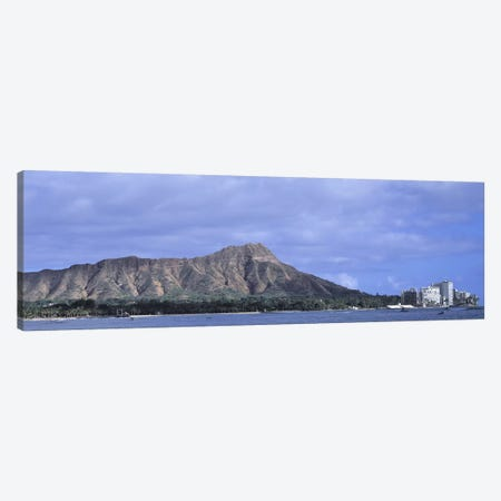 Buildings with mountain range in the background, Diamond Head, Honolulu, Oahu, Hawaii, USA Canvas Print #PIM9366} by Panoramic Images Canvas Artwork