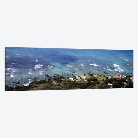 Aerial view of the pacific ocean, Ocean Villas, Honolulu, Oahu, Hawaii, USA Canvas Print #PIM9367} by Panoramic Images Canvas Art