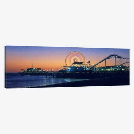 Ferris wheel on the pier, Santa Monica Pier, Santa Monica, Los Angeles County, California, USA Canvas Print #PIM9373} by Panoramic Images Canvas Wall Art
