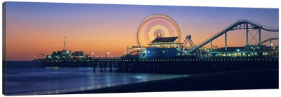 Ferris wheel on the pier, Santa Monica Pier, Santa Monica, Los Angeles County, California, USA Canvas Art Print