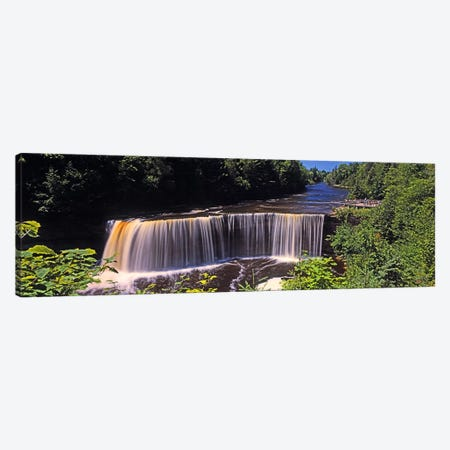 Upper Falls, Tahquamenon Falls, Tahquamenon Falls State Park, Michigan, USA Canvas Print #PIM9374} by Panoramic Images Canvas Print
