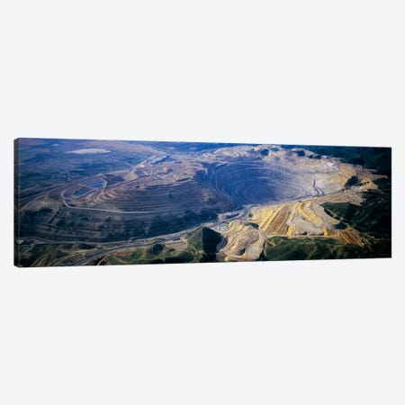 Aerial View Of A Copper Mine, Utah, USA Canvas Print #PIM9378} by Panoramic Images Canvas Artwork